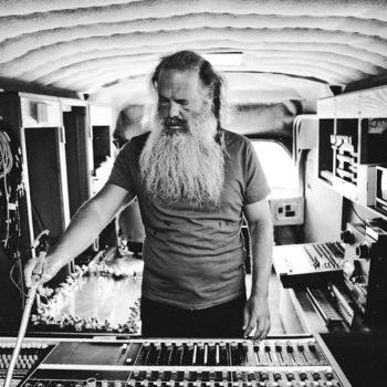 Rick Rubin in a recoding studio